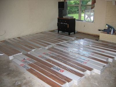 boxes of flooring