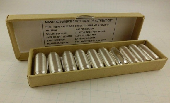 Silver Bullet Bullion - 45 ACP - open box of 10